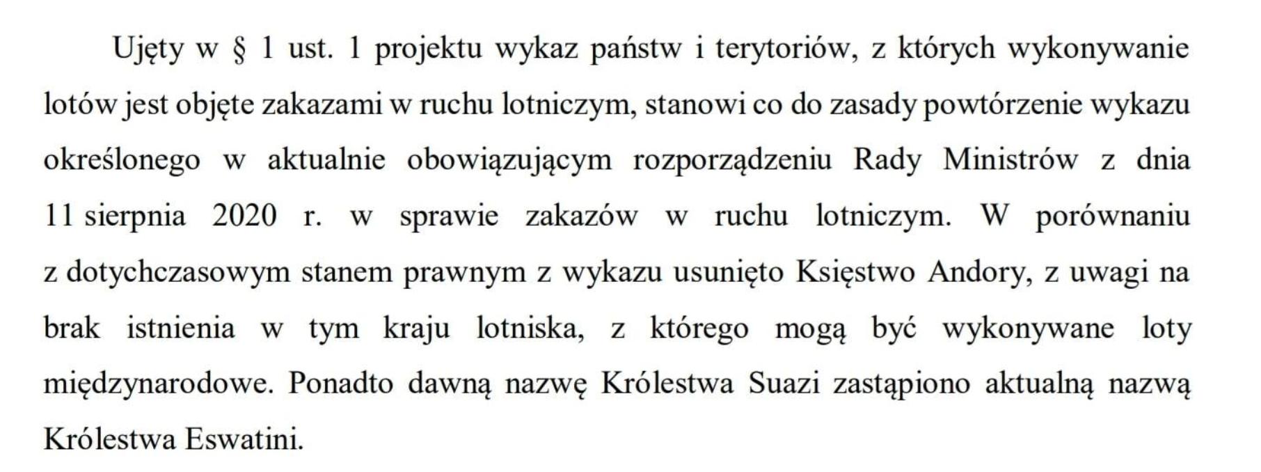 Polska zniosła zakaz lądowań samolotów z Andory