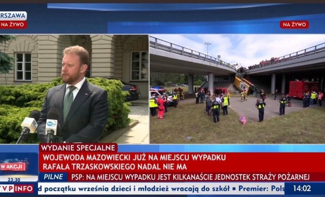Jaok (Pyta.pl, TVP) wykorzystuje wypadek autobusu, żeby skrytykować Trzaskowskiego