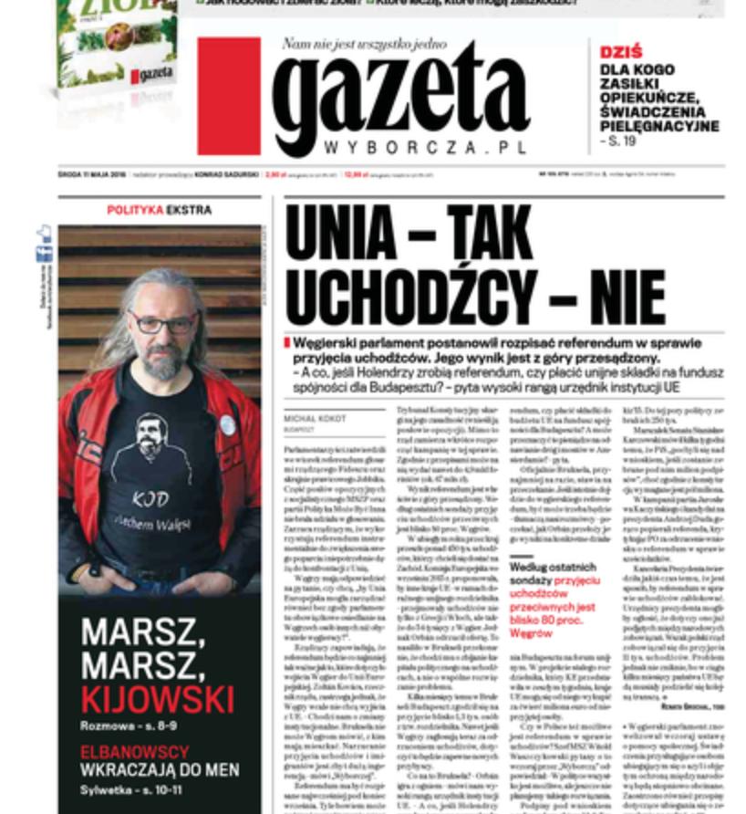 """Mateusz Kijowski żąda od Michnika zatrudnienia go w """"Gazecie Wyborczej"""""""