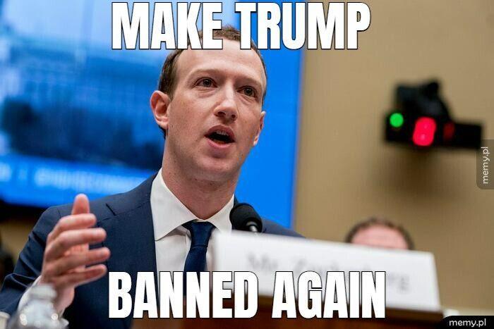 Facebook przedłuża Trumpowi bana i to od razu na dwa lata