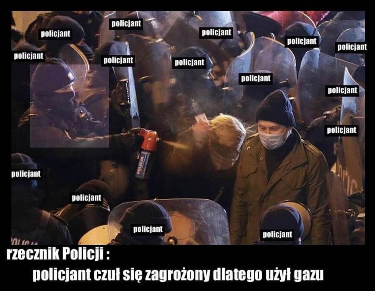 Policja pokazuje nagranie z Nowacką i tłumaczy, że nie ma obowiązku znać każdego polityka