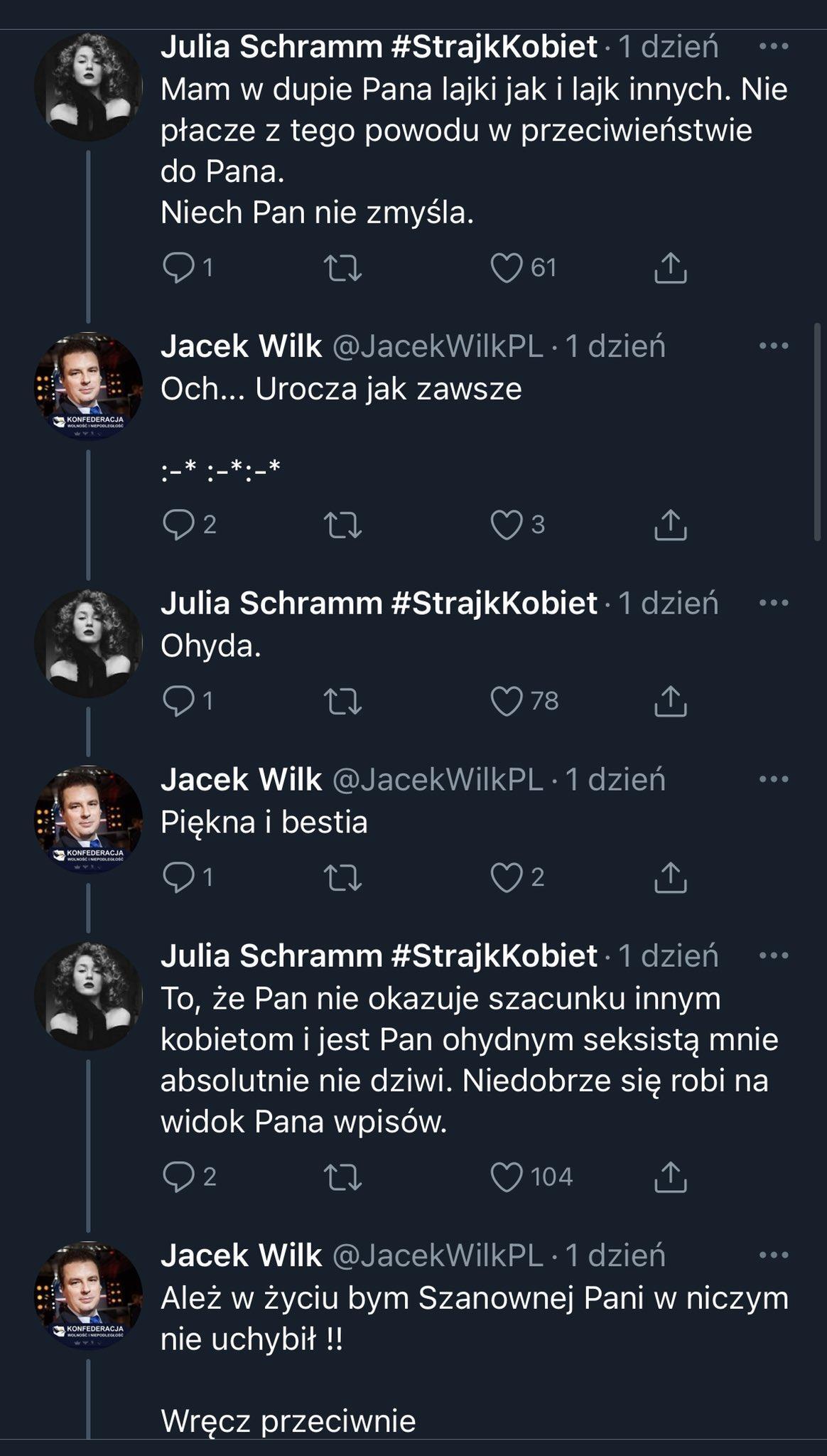 Poseł Wilk knurzy na Twitterze