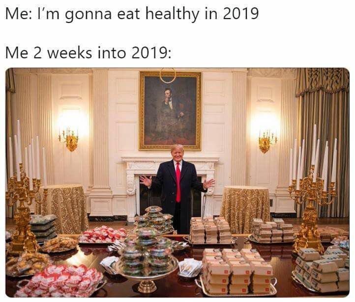 Trump zaserwował sportowcom w Białym Domu swoje ulubione fast foody