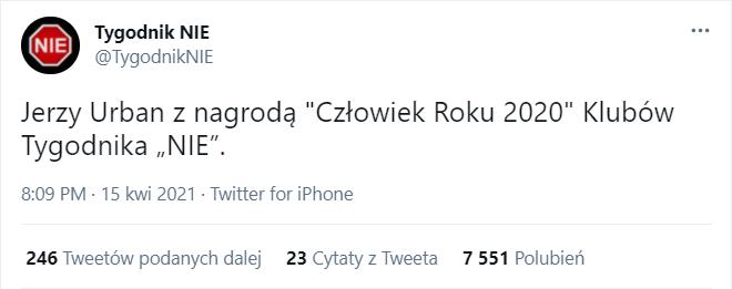 Jarosław Kaczyński został człowiekiem roku 2020 Klubów Gazety Polskiej