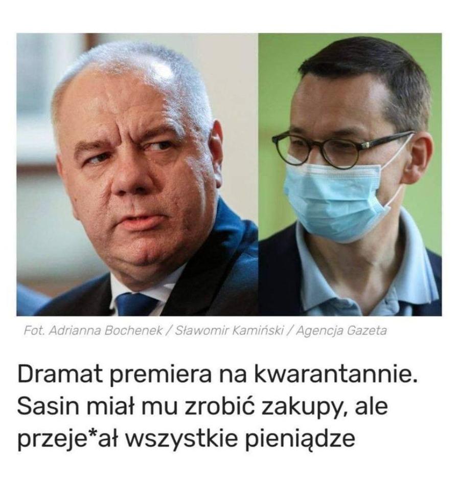 Premier Mateusz Morawiecki przebywa na kwarantannie