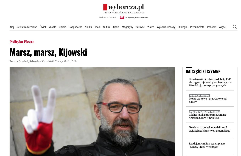Marsz, marsz Trzaskowski na okładce Newsweeka